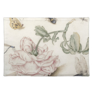 Rose and Five Insects Cloth Placemat