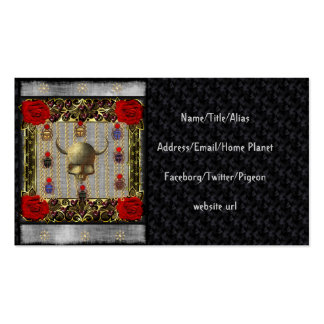 Rose and Golden Skull Double-Sided Standard Business Cards (Pack Of 100)