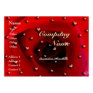 Rose and Hearts Business Card Templates