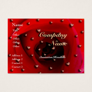 Rose and Hearts Business Card
