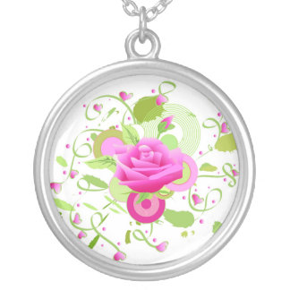 Rose and hearts necklaces
