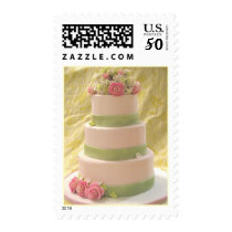 Rose and Hydrangea Wedding Cake Postage
