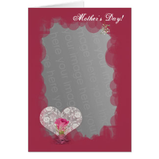 Rose and Lace heart! Card