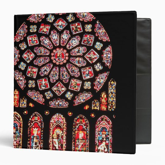 Rose and lancet windows from the north wall 3 ring binder
