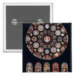 Rose and lancet windows from the south wall pinback button