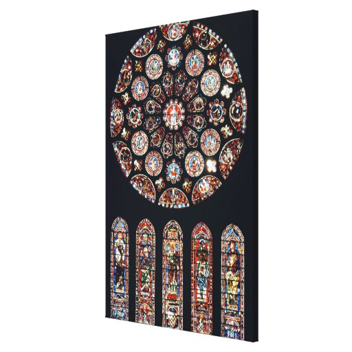 Rose and lancet windows from the south wall canvas prints