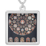 Rose and lancet windows from the south wall silver plated necklace