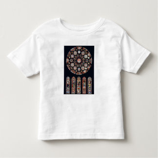 Rose and lancet windows from the south wall toddler t-shirt