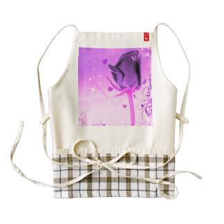 rose and love purple zazzle HEART apron