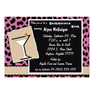 Rose And Milk Chocolate Leopard Party Invitation
