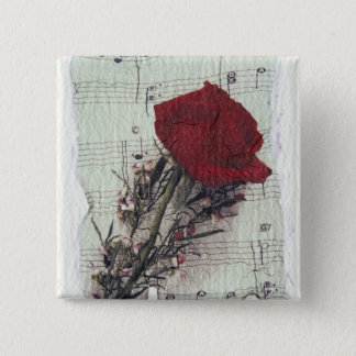 <Rose and Music> by Kim Koza 2 Button