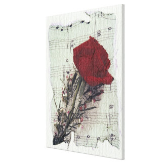 <Rose and Music> by Kim Koza 2 Gallery Wrap Canvas