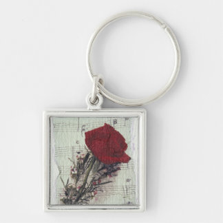 <Rose and Music> by Kim Koza 2 Keychain