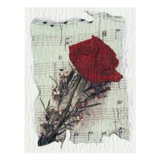 <Rose and Music> by Kim Koza 2 Postcard