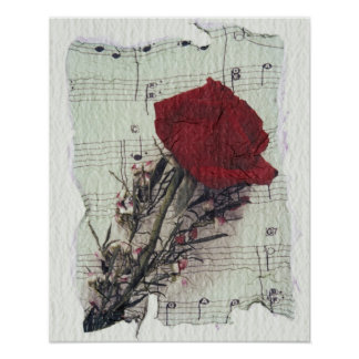 <Rose and Music> by Kim Koza 2 Poster