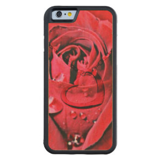 Rose and Necklace (U) Carved® Maple iPhone 6 Bumper Case