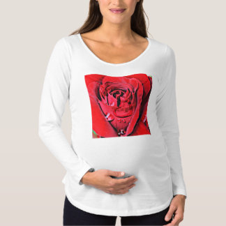 Rose and Necklace (U) Maternity T-Shirt