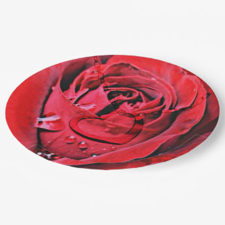 Rose and Necklace (U) Paper Plate