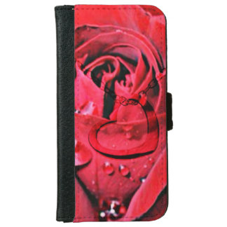Rose and Necklace (U) Wallet Phone Case For iPhone 6/6s