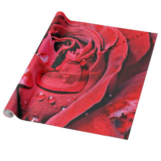 Rose and Necklace (U) Wrapping Paper