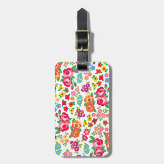 Rose and other flowers bag tag