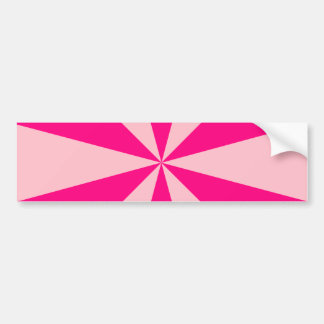 Rose and pink triangles bumper sticker