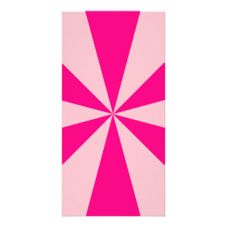 Rose and pink triangles photo card
