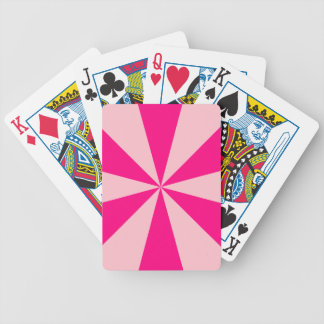 Rose and pink triangles playing cards
