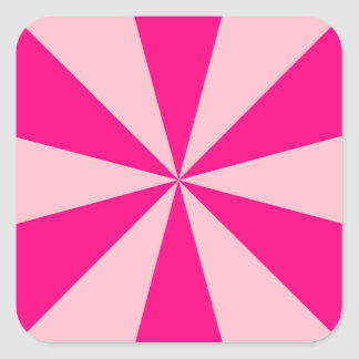 Rose and pink triangles sticker