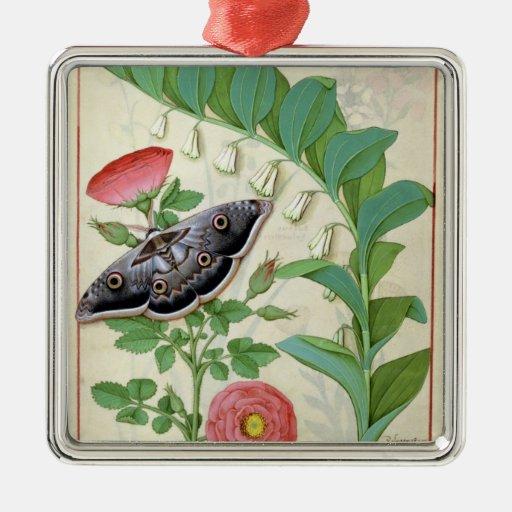 Rose and Polygonatum Metal Ornament