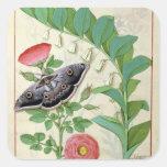 Rose and Polygonatum Square Sticker