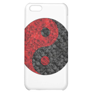 Rose and Skull Yin Yang iPhone 5C Cover