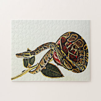 Rose and Snake - Ball Phyton Jigsaw Puzzle