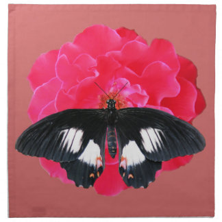 Rose and Swallowtail Napkin