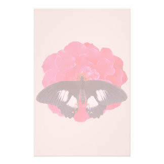 Rose and Swallowtail Stationery