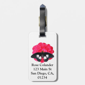 Rose and Swallowtail Tag For Luggage