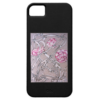 Rose and Thorn, On Black. iPhone SE/5/5s Case