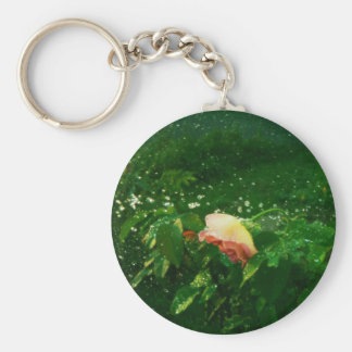 Rose and water spray keychain