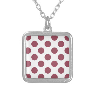 Rose and White Polkadots Silver Plated Necklace