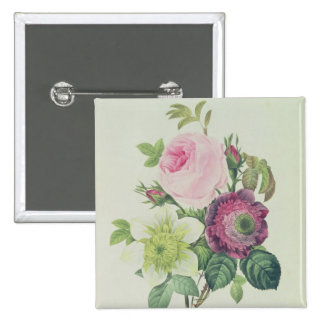 Rose, anemone and Clematide Buttons