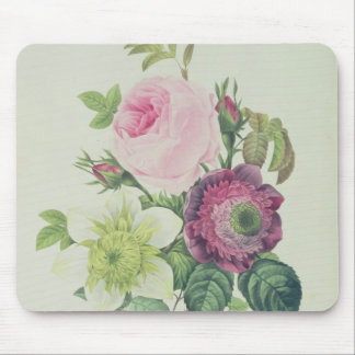 Rose, anemone and Clematide Mouse Pad