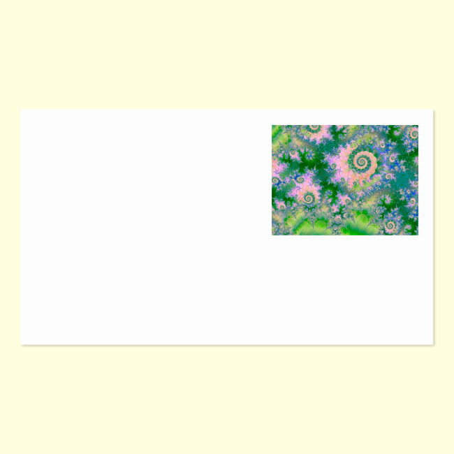 Rose Apple Green Dreams, Abstract Water Garden Double-Sided Standard Business Cards (Pack Of 100)