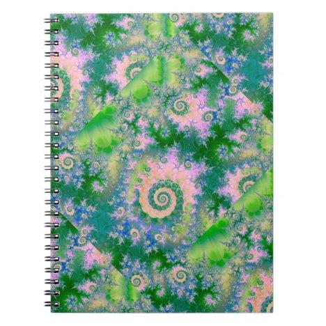 Rose Apple Green Dreams, Abstract Water Garden Notebook