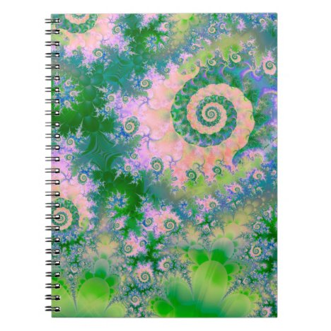 Rose Apple Green Dreams, Abstract Water Garden Notebook