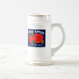 Rose Apples Wenatchee Washington Beer Stein