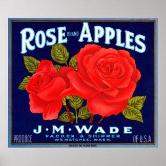 Rose Apples Wenatchee Washington Poster