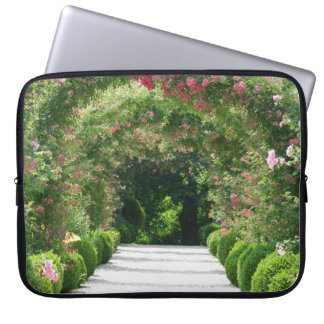 Rose Arch In the Garden Laptop Sleeve