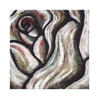 Rose are Red Abstract Flower Gifts Painting Gallery Wrap Canvas