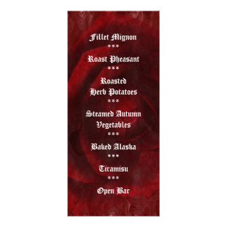 Rose are Red Sweet 16 birthday art Rack Cards