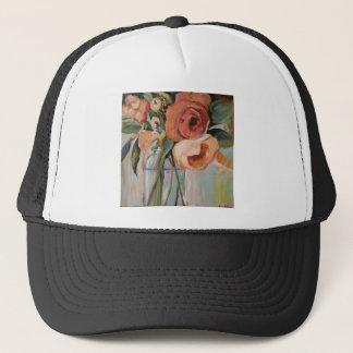 Rose arrangement trucker hat